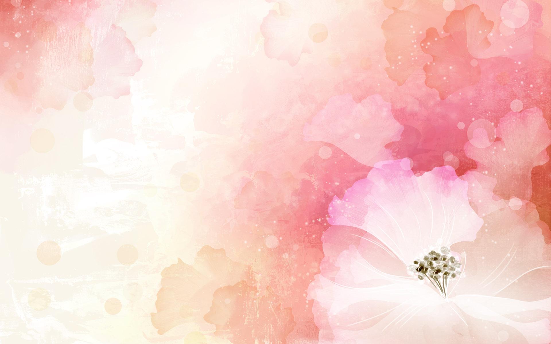 淡淡的粉色花背景